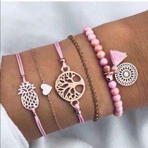 5 Pieces Layered Bohemian Bracelets